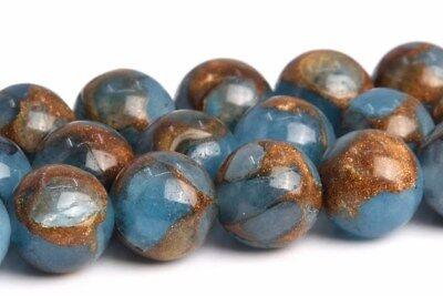 8MM Blue Sandstone Grade AAA Round Gemstone Loose Beads - Sandstone Gemstone