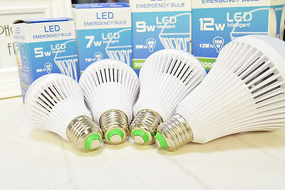 Led E27 Energy Saving Rechargeable Intelligent Light Bulb Lamp Emergency Lights