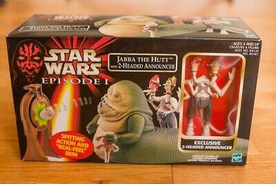 Star Wars Episode 1 Hasbro 3.75 Jabba the Hutt Two-Headed Podrace Announcer 1999