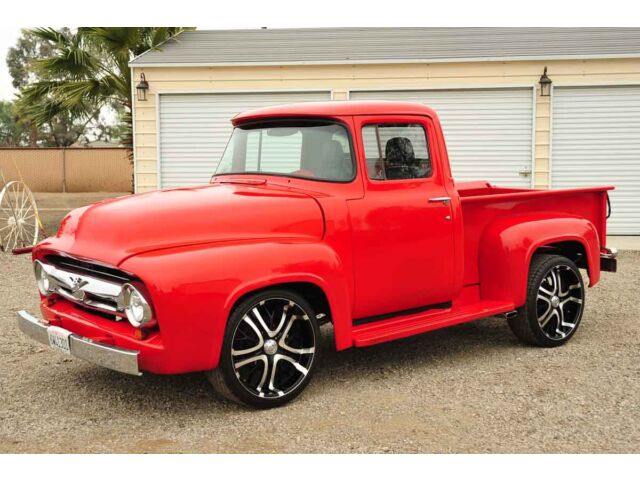 Ford : F-100 Stepside Pickup Truck Custom 1956 Ford F100 RestoMod Pickup Truck 350/350 Chevy PS PDB Tilt Air Ride