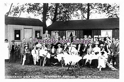 pu0286 - Crossgates Golf Club , Openig of Pavilion 1913 Yorkshire - photograph