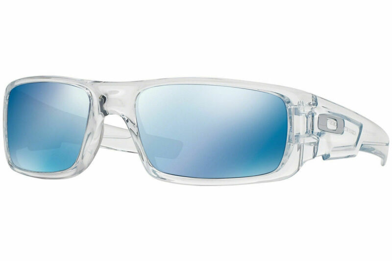 Oakley Crankshaft Sunglasses OO9239-04 Polished Clear Frame W/ Ice Iridium Lens