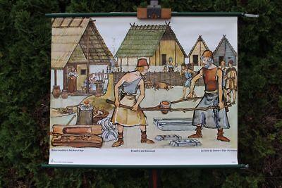 Role Map Schulwandkarte Wall Map Erzguß IN Bronze Age School Map School