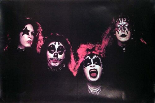 KISS 1974 Original Vintage Outtake Picture Poster