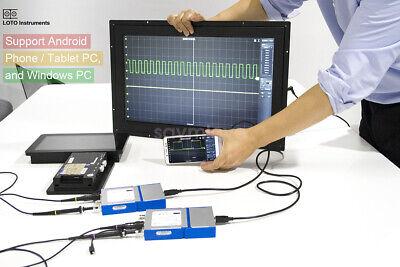 New 2 Ch Usb Pc Virtual Digital Oscilloscope 20m 50msas Support Android Phone