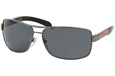 Prada Sport Linea Rossa Sonnenbrille PS54IS 5AV5Z1 Gunmetal Gummi Polar Grau Neu