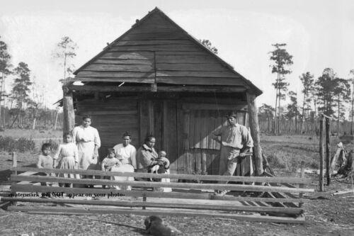 Choctaw Indian Family PHOTO Native American Louisiana 1909 Choctaws Cabin