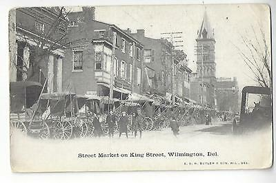 1912 Street Market on King Street, Wilmington, Delaware