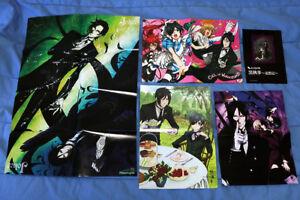 BLACK BUTLER Kuroshitsuji Lot 4 Posters, Playing Cards, Booklet