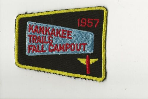 RAINBOW COUNCIL / 1957 KANKAKEE TRAILS patch - Boy Scout BSA A132/7-4