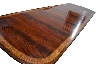 Finest Unused Leighton Hall 12ft Flaming Mahogany Conference Table Retail 9000