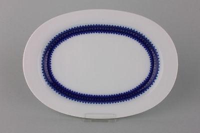 Platte Servierplatte Thomas Porzellan blaues Band, 1960er Jahre  Länge 27,7 cm