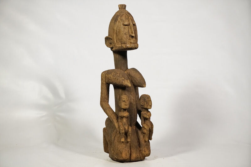 "Dogon Hermaphrodite Maternity Figure 22"" - Mali - African Art"