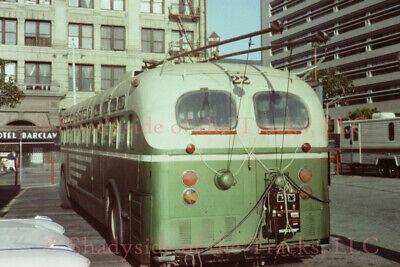 San Francisco MUNI Electric Trolley Coach #22 Orig Slide Heaven Can Wait Prop