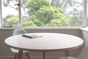 Vic Ash Round Dining Table - Solid Timber Brunswick Moreland Area Preview