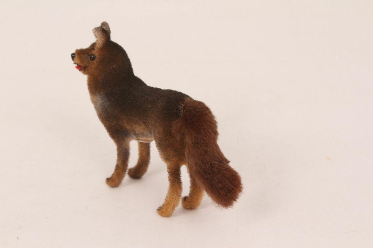 Wagner chien berger allemand floqué braun vintage animal chien