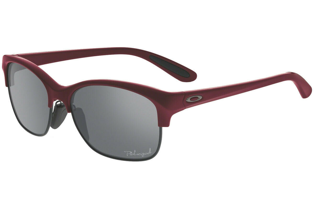 Oakley RSVP POLARIZED Sunglasses OO9204-06 Scarlet Red Frame W/ Grey Lens NEW