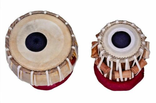 Brass Tabla Set Carving On It Mango Wood Dayan INDIAN MUSICAL INSTRUMENT Leather