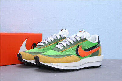 Sacai x Nike LVD Waffle Daybreak Mens Running Shoes Sneakers Trainers (Green)