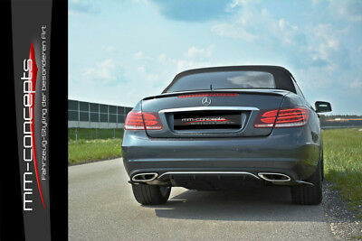 CUP Diffusor Ansatz für Mercedes E Klasse W212 Facelift Heck Stoßstange AMG