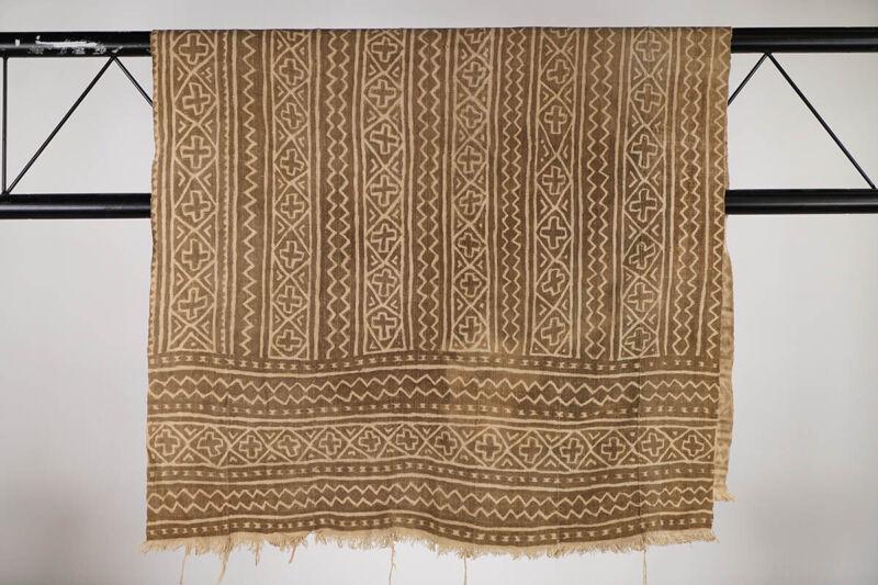 "Vintage Bamana Mud Cloth Textile 59"" x 34.5"" - Mali - African Art"