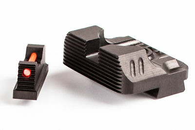 NEW ZEV TECH V3 SIGHT SET FOR GLOCK .230 FIBER OPTIC FRONT & REAR COMBAT SET (Front Sight Set)
