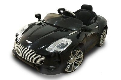 Black kids Aston Martin Style Roadster Electric / Battery 12v Ride on car E