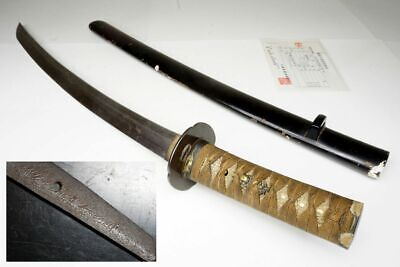 "Signed Antique Japanese Samurai Wakizashi Sword ""Kanesada 兼定"" Nihonto Katana"