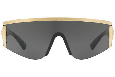 NWT Versace Sunglasses VE 2197 1000/87 Gold-Black / Grey Lens 40 mm 100087