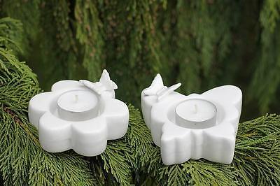 Windlicht - Butterfly - Landhaus Teelichthalter, 2er Set Butterfly Tee-set
