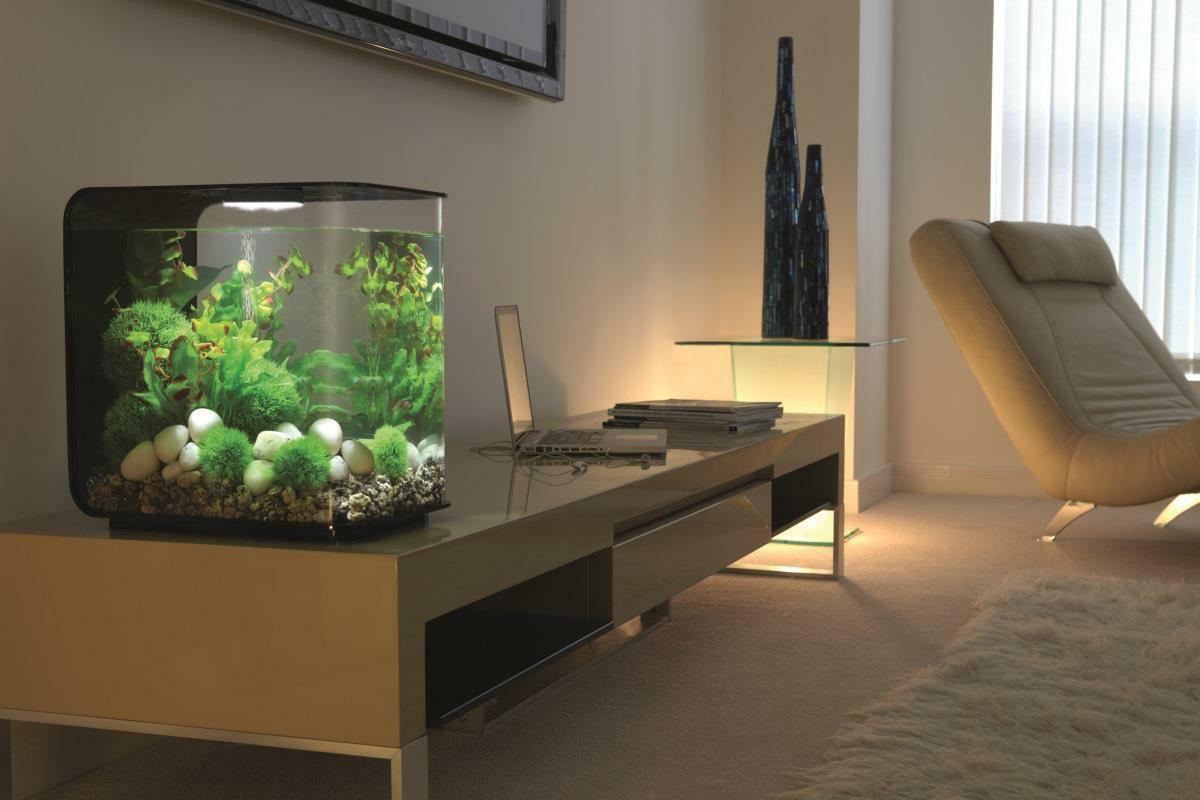 biorb nano aquarium komplett set flow 15 mcr schwarz ebay. Black Bedroom Furniture Sets. Home Design Ideas