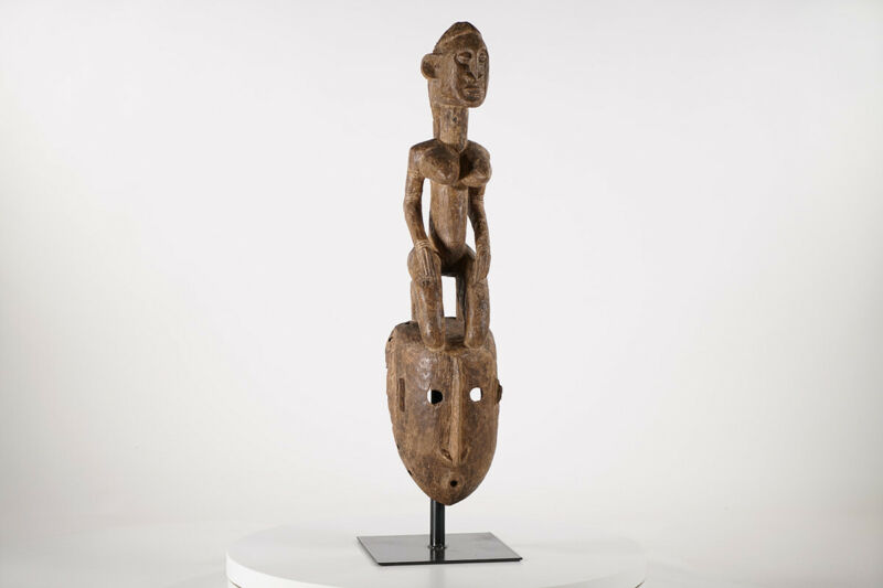 """Dogon Mask wtih Superstructure 27"""" - Mali - African Art"""