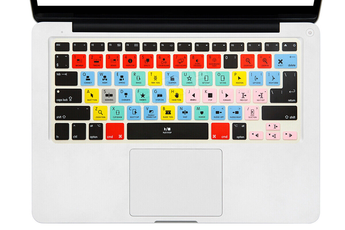 Details about For Apple Final Cut Pro X Silicone Keyboard Cover Skin For  MacBook Air Pro13 15