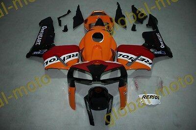 Fairings for Honda CBR600rr 05-06 orange tail repsol ABS Kits 2005 2006 bodykits