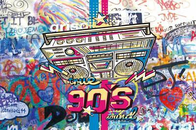 90's photo background Graffiti Style  backdrops Hip HOP For Studio Props vinyl  ](90s Props)