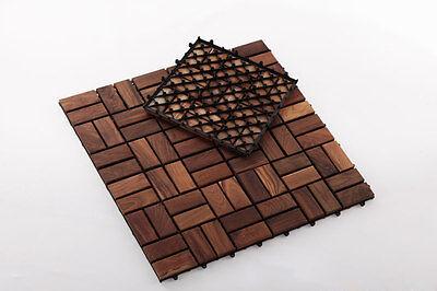 Interlocking Oiled Teak Wood Tiles Indoor/Outdoor/Patio Decking (10sq ft/box) Teak Deck Tiles