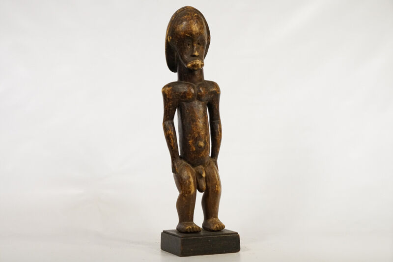 "Male Fang Statue on Custom Base 23.5"" - Gabon - African Art"