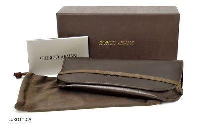 New Giorgio Armani Sunglasses Eyeglasses Brown Soft Case Authentic Magnetic Life