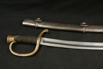 Civil War US Army Ames Mfg M1840 Light Artillery Sword Sabre ADK 1860 & Scabbard