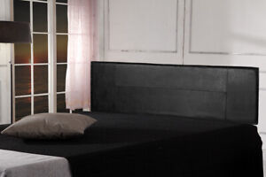 Black PU Leather King Bed Headboard