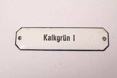 Kalkgrün I Enamel Sign Pharmacy Colonial Grocer Color Medicine Approx. 1900