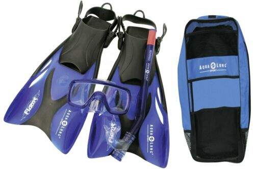 Aqualung Proflex x KD ADJ JR. Junior Kinder - Schnorchel Set +Tasche Bag Flame