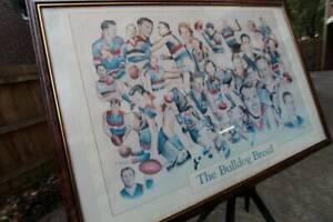 ~RARE~ Circa 1995 Western Bulldogs 'The Bulldog Breed' Framed Poster St Kilda East Glen Eira Area Preview