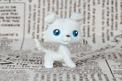LITTLEST PET SHOP collie dog LPS Figure blue eyes #363