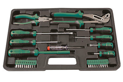 Kamasa Gift Ideas 30 Pce Tool Kit Set Screwdrivers Pliers Bits Voltage Tester