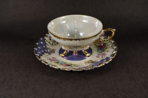 Yamato Porcelain Floral w/Gold Trim Coffee Tea Cup and Saucer.