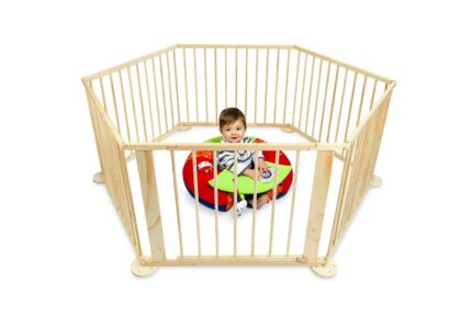 Bubbli 6 panel playpen - new, unboxed