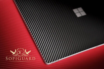 SopiGuard Carbon Fiber Skin Rear Back Film Protector for Microsoft Surface Book