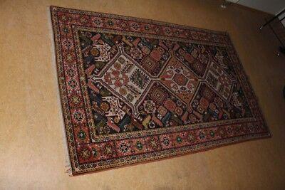original antik handgeknüpfter Teppich Yalameh Ardebil Orient geometrisch 201x126