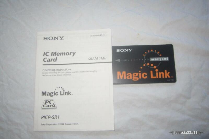 NEW OEM Sony Magic Link PICP-SR1 1MB Memory Card 1000/2000 - needs new battery